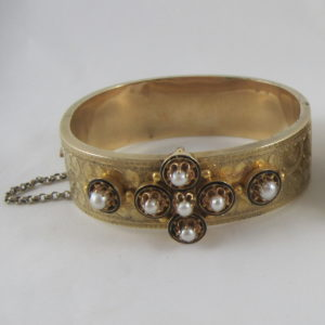 18K Victorian Pearl and Diamond Bracelet